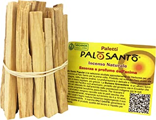 Palo Santo Sticks from Perù - Natural Incense Sticks for Anxiety, Meditation and Protection – Ideal for Purifying and Cleansing Your Space – Holy Wood - q.ty 2,8 oz - 80 gr - 10/12 Sticks