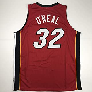 Unsigned Shaquille Shaq O'Neal Miami Red Custom Stitched Basketball Jersey Size Men's XL New No Brands/Logos
