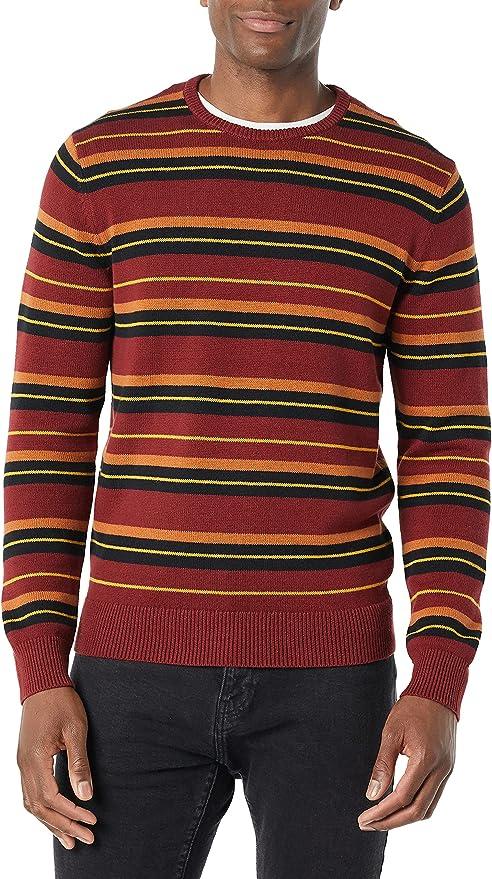 1960s Mens Shirts | 60s Mod Shirts, Hippie Shirts Amazon Brand - Goodthreads Mens Soft Cotton Crewneck Sweater  AT vintagedancer.com