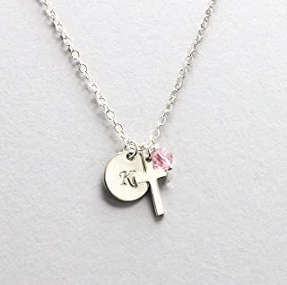 baby girl cross necklace