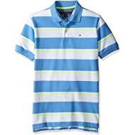 Tommy Hilfiger Boys' Short Sleeve Striped Polo Shirt