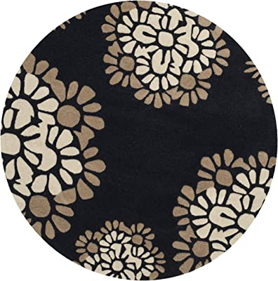 Martha Stewart Collection MSR4730A Area Rug, 8' x 8' Round, Silhouette