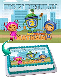 PartyPrint Edible Cake Image for Team Umizoomi Theme Party Birthday Topper Personalized 1/4 Sheet