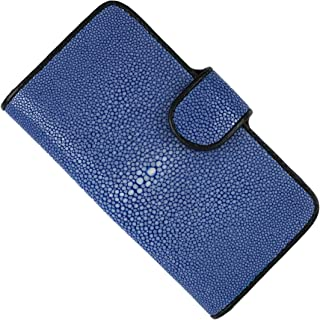 SENANNAM 手帳型レザースマホケース iPhone12及び12pro専用 スティングレイ スティングレー エイ ガルーシャ モバイル 手帳型 レザー スマホ 携帯 ケース (blue)
