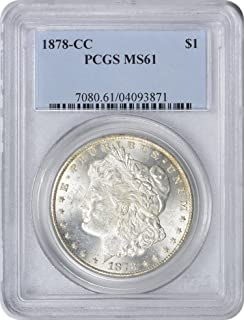 1878-CC Morgan Silver Dollar, MS61, PCGS