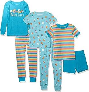 Spotted Zebra Snug-fit Cotton Pajamas Sleepwear Sets Niñas, Pack de 6