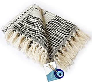 """Boho Throw Blanket Decorative Light Weight 100% Cotton 