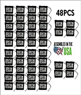 48PCS Replacement SAFLOK A28110 6V Hotel Door Lock Battery Fits 884952, A28110, A28100, DL-12/4, HTL-11/13, Intellis, MT