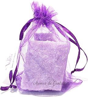 Aromas de Cantabria® Violetas Saquito aromatizador para armario,100% natural y hecho a mano, no mancha, 100% artesanal, du...