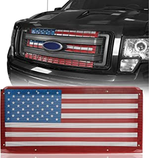 u-Box F-150 Flag Grill Insert Mesh Grille Insert Old Glory American Flag Compatible with 2009-2014 Ford F150