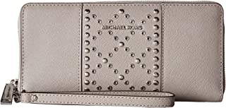 Studded Travel Continental Wristlet Wallet Pearl Oyster Money Pieces New