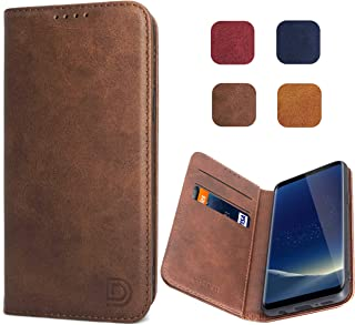 Samsung Galaxy S8 Case Cover Wallet Brown for Men Women Dessvon S8 Leather Flip Case with Magnetic Closure Card Holder Kickstand Business Style Full Body Protective Phone Case Cover for Galaxy S8