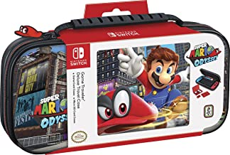 Officially Licensed Nintendo Switch Super Mario Odyssey Carrying Case – Protective Deluxe Travel Case with Adjustable View...