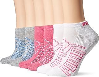 PUMA Women's 6 Pack Runner Socks, Grey Blue, 9-11