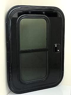 Vintage Technologies FC04 RV Teardrop Driver's Side Black Exterior/Black Interior Foam Core Trailer Door 26