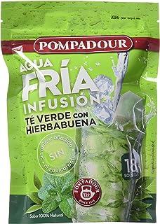 Pompadour Té Verde Hierba Buena Frío - 18 bolsitas