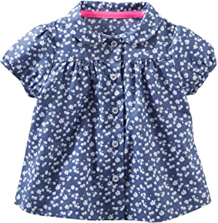 OshKosh BGosh Baby Girls Floral Ruffle Top 0-3 Months OshKosh B/'gosh
