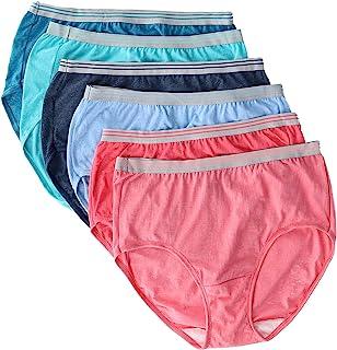 Fruit of the Loom Women's Heather Brief Underwear (6 Pair Pack), 7, Multi