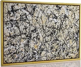 Berkin Arts Framed Jackson Pollock Giclee Canvas Print Paintings Poster Reproduction Fine Art Home Decor (NO.30)