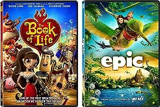 Book of Life & Epic 2-DVD Animated Family Fun Bundle Set