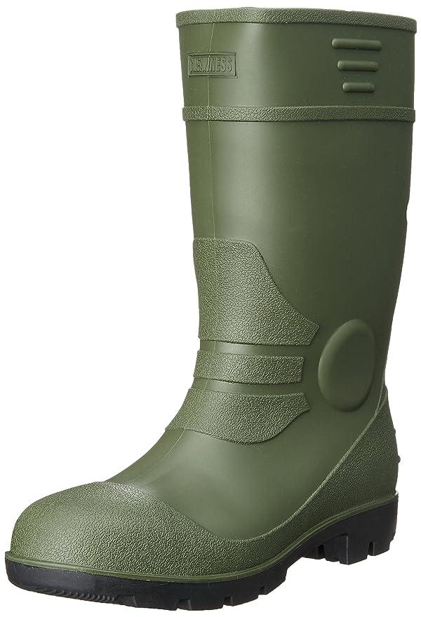 困難終わり絶対の[キタ] 安全長靴 作業長靴 メガセーフティ 丈夫なPVC一体成型モデル KR-7450