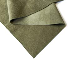 Genuine Black Suede Leather Hide: Real Leather Sheet for Crafts (Olive Green, 10x10In/ 25x25cm)