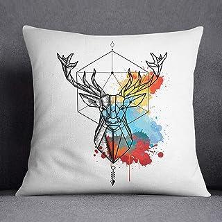 Bonamaison Ciervo Funda de Cojín, Multicolor, 45x45