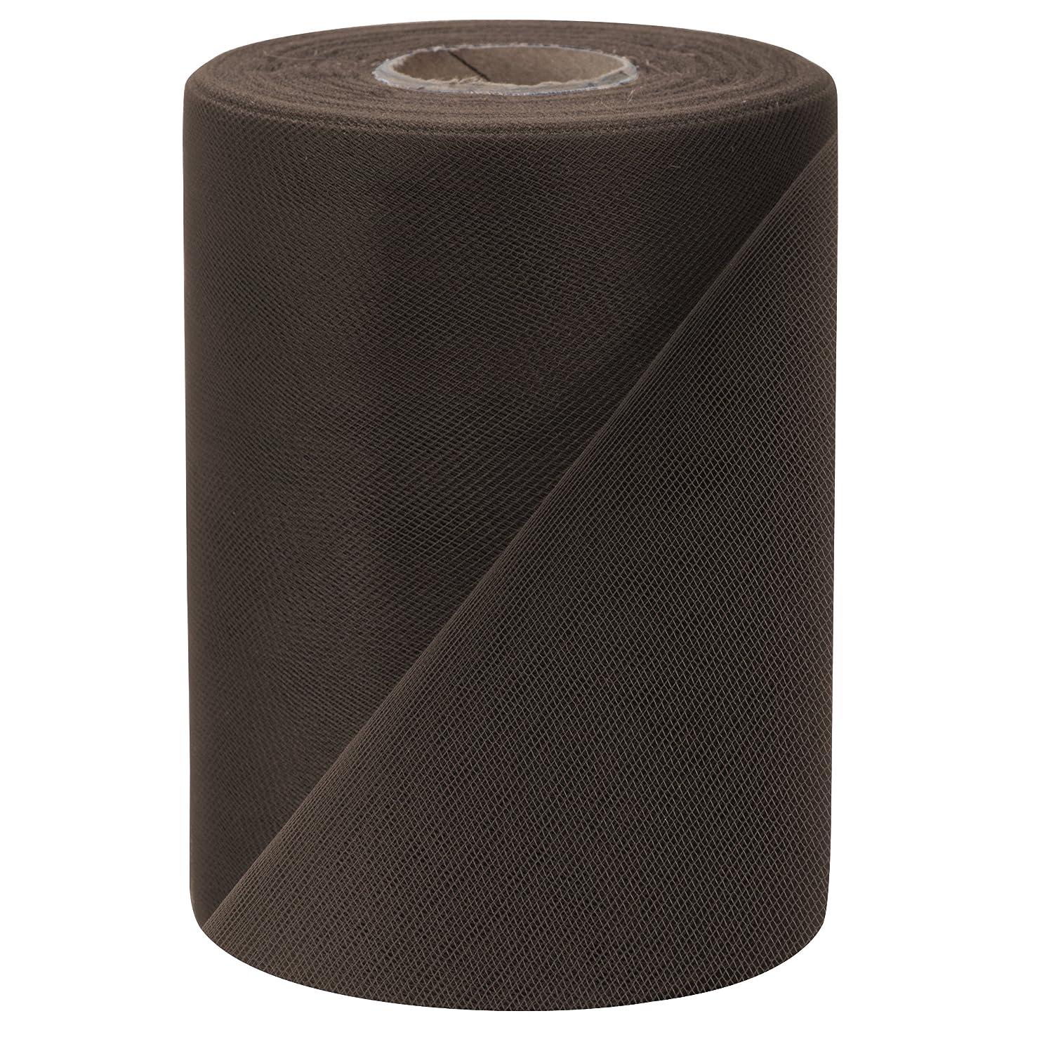 Falk Fabrics Tulle Spool, 6-Inch by 100-Yard, Brown