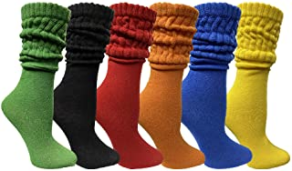 6 Pack Yacht & Smith Scrunch Socks for women Cotton...