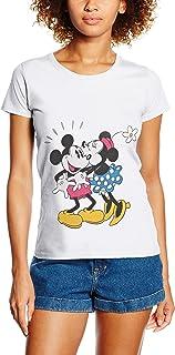 Disney Mickey Mouse Minnie Kiss Hauts Femme
