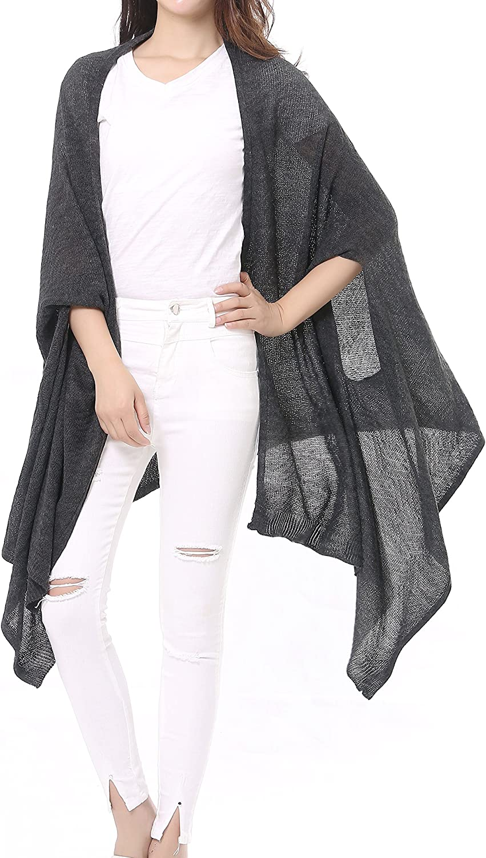 Bruceriver Women's Lightweight Versatile Multi Style Long Knit Scarf Shawl