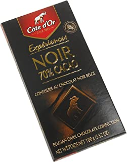 Cote D'or Dark (70%) Intense Chocolate Cocoa, 3.5-Ounce Bars (Pack of 10)