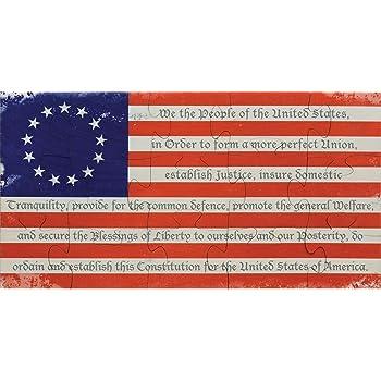 "Jigsaw Puzzle I LOVE USA Eagle Liberty Flag 500 Pcs 18/"" x 11/"""