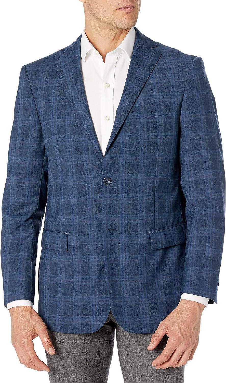 Adam Baker Men's Single Breasted Classic Fit 100% Luxury Lamb's Wool Blazer/Sport Coat