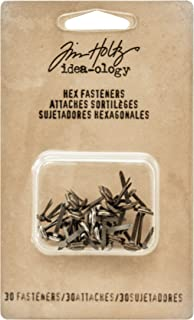 Tim Holtz Idea-ology Hex Fasteners 30/Pack, 1/4 Inch and