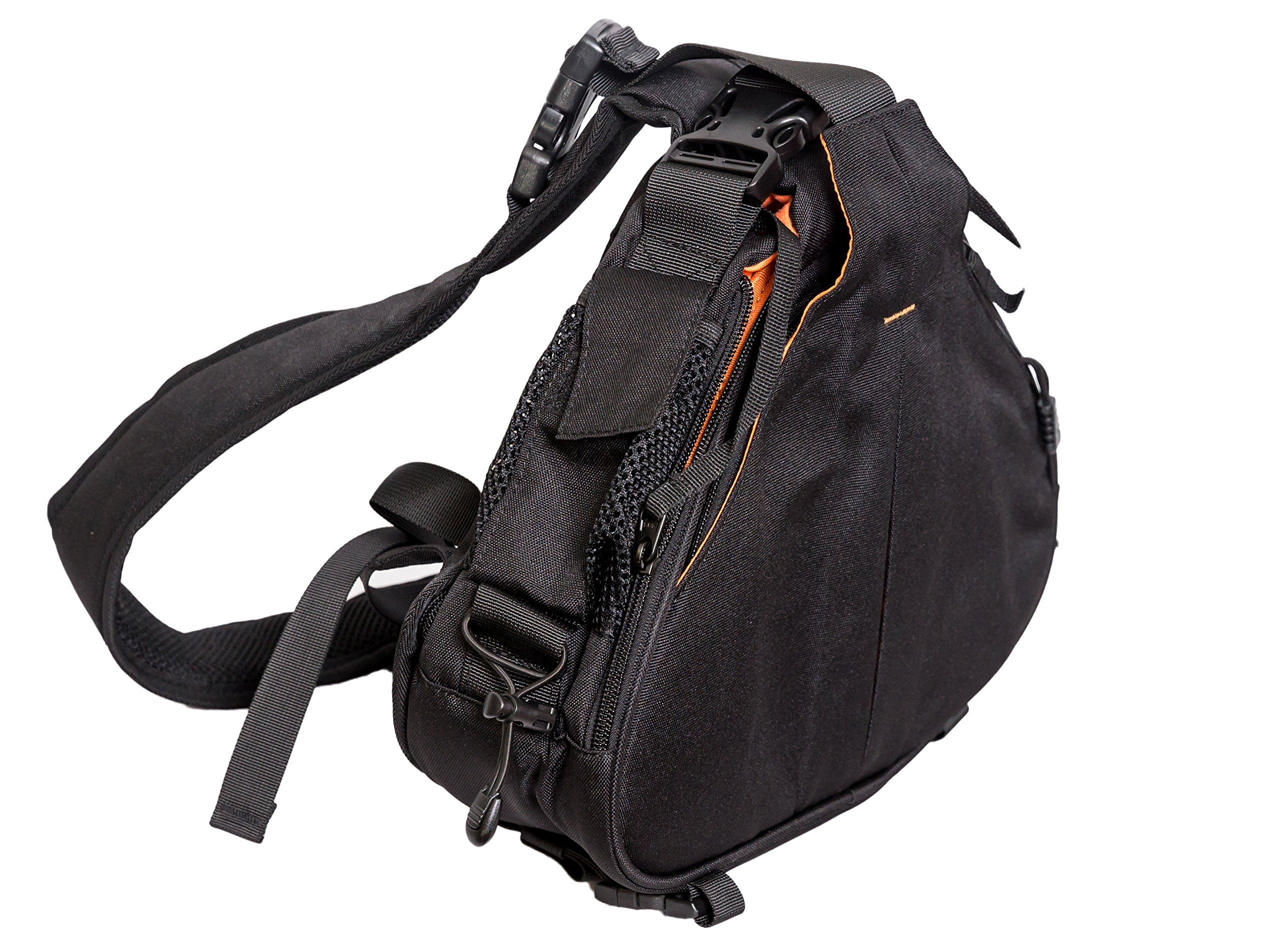 luxburg 高级防震防水 SLR / DSLR 专业单肩包–黑色