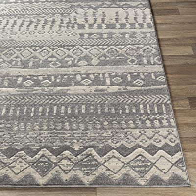 "Artistic Weavers Azriel Bohemian Moroccan Area Rug, 7'10"" x 10'3"", Taupe"
