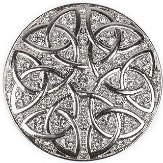styleBREAKER Colgante de Adorno magnético Redondo con estrás y Ornamento de Nudo Celta para chales, pañuelos o Ponchos, Br...