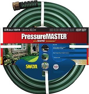 "Swan Products SN7958100 PressureMASTER Heavy Duty Kink Resistant Garden Hose 100' x 5/8"", Green"