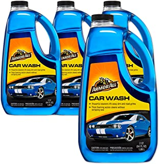 Armor All Foam Action Car Wash - Cleaning Concentrate for Cars & Truck & Motorcycle, 64 Fl Oz Bottles - Pack of 4, 17450-4PK