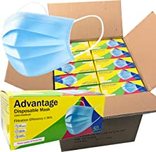 ADVANTAGE (2,000 Pack) - 3-Ply Disposable Face Masks with Elastic Earloops - Bulk Pricing