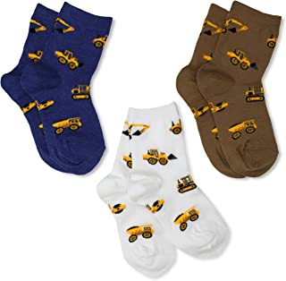 Little Boys' Construction Triple Treat Socks (Pack of 3)