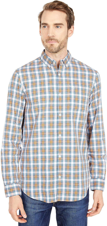 Original Penguin Men's Plaid Long Sleeve Button-Down Shirt