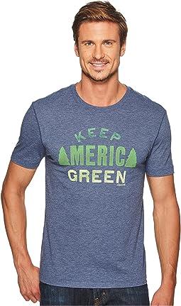 Life is Good Keep America Green Cool Tee