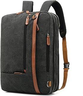 CoolBell Maletín transformable para portátil, mochila, para el hombro, multiusos, para los negocios, viajar, adecuado para 17,3pulgadas, para hombre/mujer negro Canvas Schwarz 17,3 pulgadas