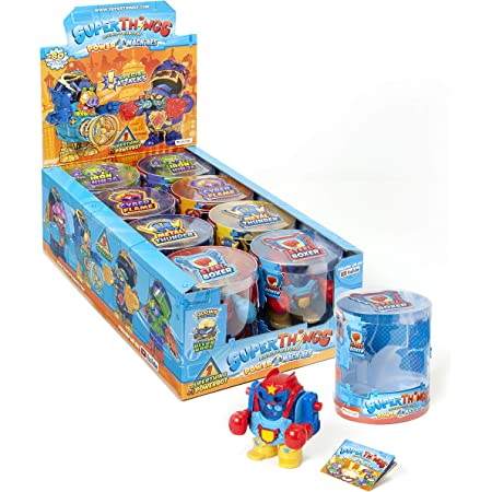 SuperThings - Power Machine - Display 8 PowerBots, Contiene 1 Powebot y 1 SuperThing (PST7D068IN00)