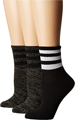 Originals Ankle 3-Stripe Quarter Sock 3-Pack