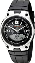 Casio Men's AW-80-1A2VCF Databank Analog/Digital Display Quartz Black Watch