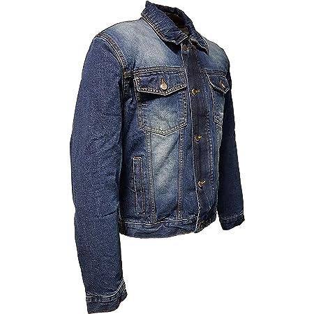 Roleff Racewear Ro1515 Jeans Motorradjacke Mit Aramideinlagen Protektoren Blau Größe 3xl Auto