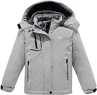 Wantdo Girls Waterproof Ski Jacket Insulated Snowboarding Jackets Water Resistant Winter Snow Coat